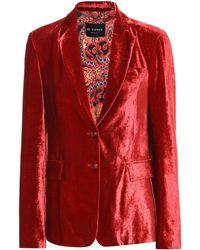 Etro Blazer aus Samt - Rot