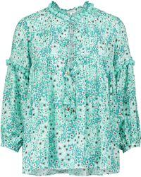 Poupette Exklusiv bei Mytheresa – Bedruckte Bluse Clara - Grün