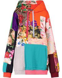Dolce & Gabbana Felpa patchwork in misto cotone e broccato - Multicolore