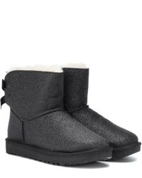 UGG - Mini Bailey Bow Glitter Ankle Boots - Lyst