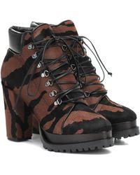 Alaïa Zebra-print Calf Hair Ankle Boots - Black