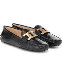 Tod's Loafers Kate aus Leder - Schwarz