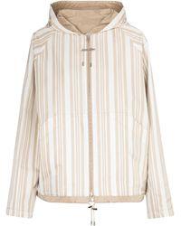 Loro Piana Andrew Striped Reversible Jacket - Natural