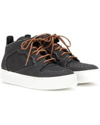 Balenciaga Monochrome Staples Leather Trainers - Gray