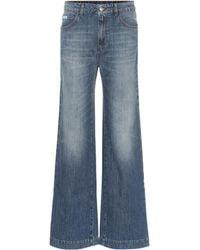ALEXACHUNG High-Rise Jeans mit weitem Bein - Blau