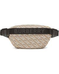Burberry Riñonera LL Sonny de nylon - Neutro