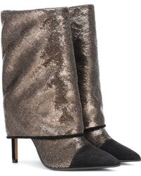 Balmain Stiefel Babette mit Glitter - Mehrfarbig