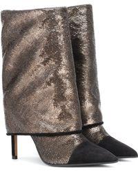 Balmain Babette Metallic Glitter Boots - Multicolour