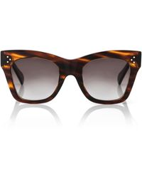Celine Cat-eye Acetate Sunglasses - Brown