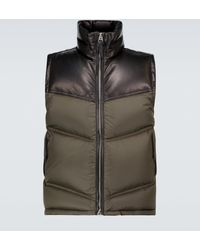 Tom Ford Nylon And Leather Down-filled Gilet - Multicolour
