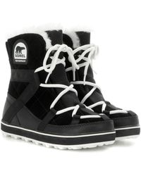 Sorel Ankle Boots Glacy Explorer Shortie - Schwarz