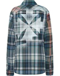 Off-White c/o Virgil Abloh Checked Cotton-flannel Shirt - Blue