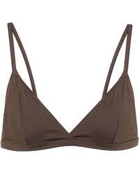 Asceno Genoa Triangle Bikini Top - Brown
