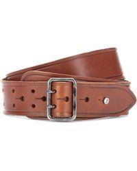 Saint Laurent - Leather Press-stud Belt - Lyst