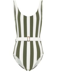 Solid & Striped Costume intero a righe Anne Marie - Verde
