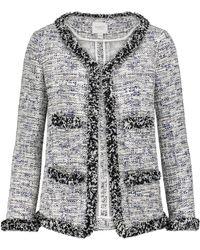 Giambattista Valli Cotton-blend Bouclé Tweed Jacket - Black