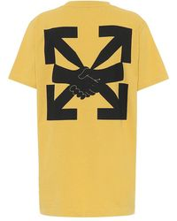 Off-White c/o Virgil Abloh - T-shirt Agreement in cotone con logo - Lyst