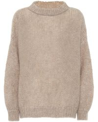 Brunello Cucinelli Alpaca-blend Jumper - Natural