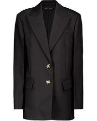 Proenza Schouler Blazer oversized de lana y seda - Negro