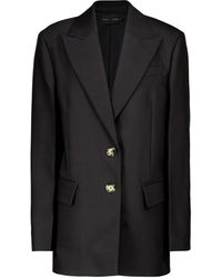 Proenza Schouler Oversized Wool And Silk-blend Blazer - Black