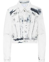 Proenza Schouler Cropped Denim Jacket - Multicolor