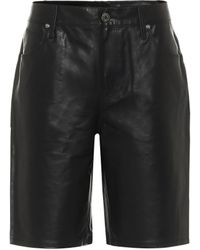 RTA Jami Leather Shorts - Black