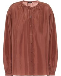 JOSEPH Bowell Silk Blouse - Red