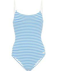 Solid & Striped Gestreifter Badeanzug The Nina - Blau