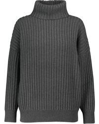 Brunello Cucinelli Gerippter Pullover aus Kaschmir - Grau