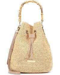 Heidi Klein Savanna Bay Mini Raffia Bucket Bag - Natural