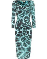 Roberto Cavalli Animal-print Jersey Dress - Black
