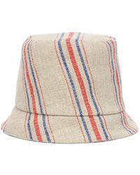 Rejina Pyo Sombrero Connor de lino a rayas - Multicolor