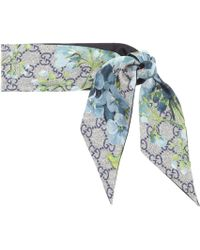 Gucci GG Blooms Silk Scarf - Multicolor