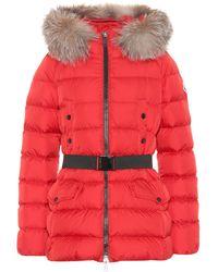 Moncler Piumino Clion con cintura - Rosso