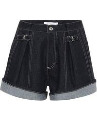 Chloé Recycled Denim Shorts - Blue