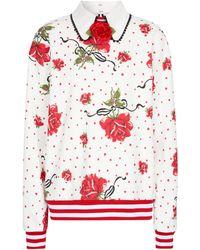 Rodarte Floral Cotton-blend Sweatshirt - Multicolour