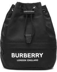 Burberry Phoebe Nylon Drawstring Pouch - Black