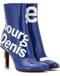 Vetements - Printed Ankle Boots - Lyst