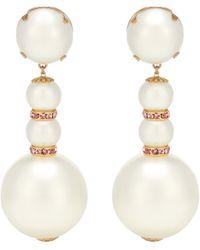 Dolce & Gabbana Clip-Ohrringe mit Kristallen - Weiß