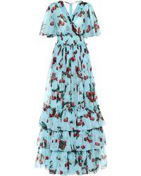 f00ecd214d Dolce & Gabbana - Exclusivo en Mytheresa – vestido de fiesta de seda  estampado - Lyst