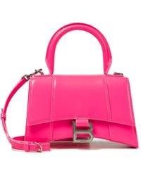 Balenciaga Tote Hourglass XS aus Leder - Pink