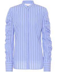 Victoria, Victoria Beckham - Striped Cotton Poplin Shirt - Lyst