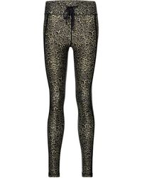 The Upside Leopard-print leggings - Black