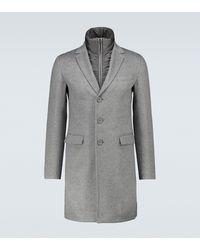 Herno Layered Cashmere Overcoat - Grey