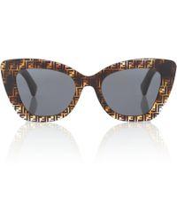 Fendi Havana Ff Sunglasses - Brown