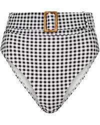 Alexandra Miro Exclusive To Mytheresa – Ursula Gingham Bikini Bottoms - Black