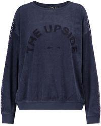 The Upside Alena Cotton Terry Sweatshirt - Blue