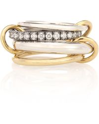 Spinelli Kilcollin Ring Janssen WG aus Sterlingsilber mit 18kt Gelbgold und Diamanten - Mettallic