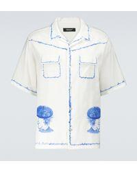 Undercover Camisa Paint de algodón - Blanco