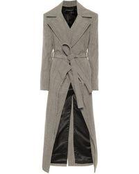 Y. Project Checked Virgin Wool Coat - Multicolour